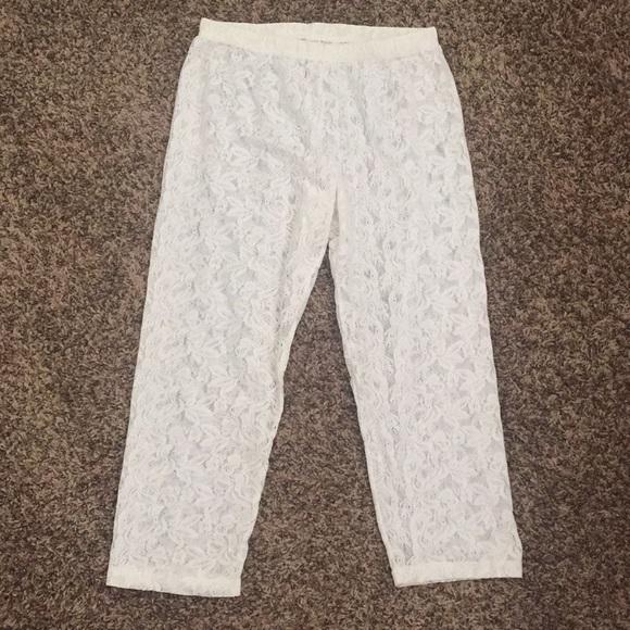 Xhilaration Pants - XL See-through Lace Elastic Waist Capris/Undies...